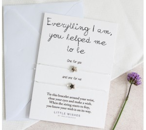 Everything I am you helped me to be double wish bracelet