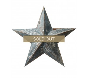 Wooden barn star in blue