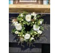 Faux silk Rose Hypericum wreath cream 30cm/12 inches