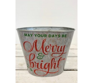 May your days be Merry and bright Christmas planter