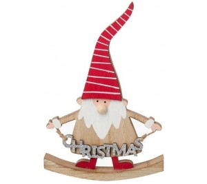 Wooden Nordic Gonk Christmas Sign
