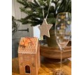 Golden bee glass gift set with ceramic star and ginger bread candle