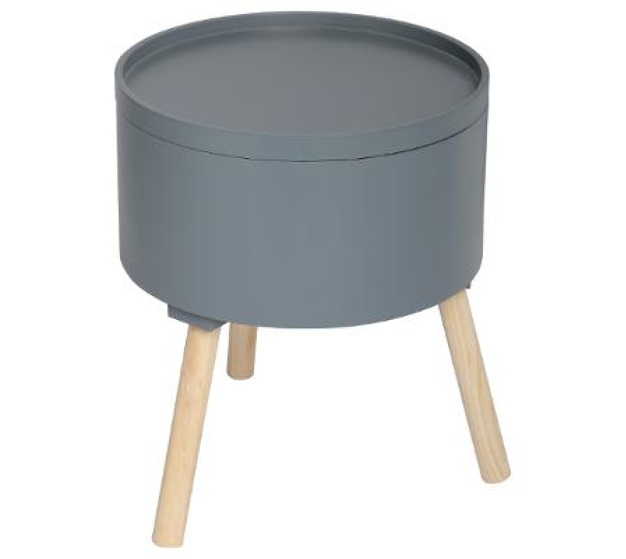 Grey multi-functional side table with three legs