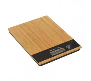 Very stylish natural bamboo digital kitchen weighing scales