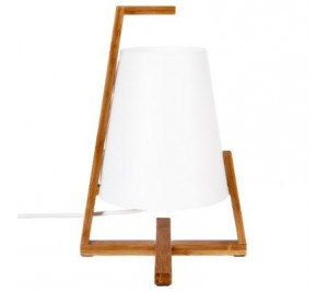 Make your own Bamboo and white paper table lamp scandinavian style