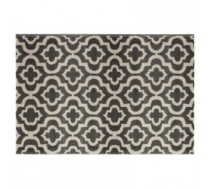 Marvin Trellis Geometric Design Grey Rug