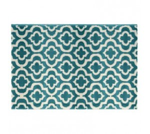 Marvin Trellis Geometric Design Blue Rug