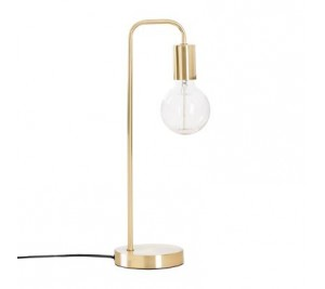 Elegant gold table lamp with industrial style