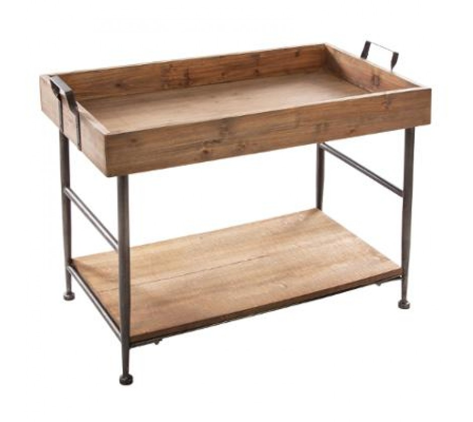 Very stylish tray coffee table with shelf