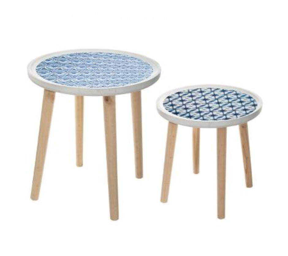 Set of two ocean coffee tables