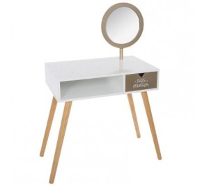 Children's Trendy Retro Scandinavian style dressing table with mirror