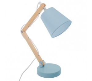 Stylish blue and metal desk lamp