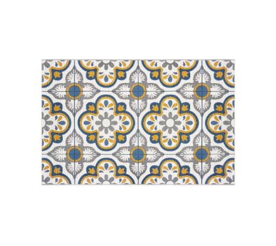Fantastic mosaic rug for indoors and outdoors use