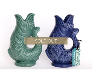 Traditional style gluggle jug in navy or teal