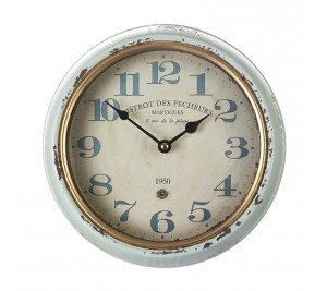 A rustic and antique style wall clock Bistrot design