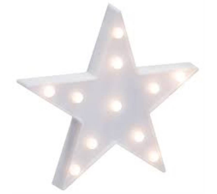 Star night light room decor Led in white and yellow